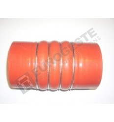 SILICONE BELLOWS HOSE TURBO MAN Ø100x190 RED WITH 4 STEEL RINGS
