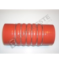 SILICONE BELLOWS HOSE TURBO MAN Ø100x235 RED WITH 6 STEEL RINGS