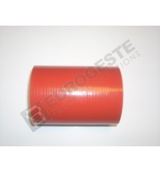 SILICONE CONNECTOR MAN Ø75x120 RED STRAIGHT
