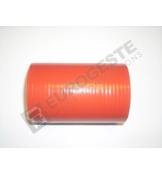 SILICONE CONNECTOR MAN Ø65x110 RED STRAIGHT