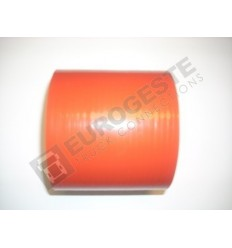 SILICONE CONNECTOR MERCEDES Ø100x100 RED STRAIGHT