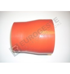 REDUCER SILICONE CONNECTOR MERCEDES Ø100-115x130 RED STRAIGHT