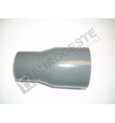 REDUCER SILICONE CONNECTOR MERCEDES Ø50-70x140 GREY STRAIGHT