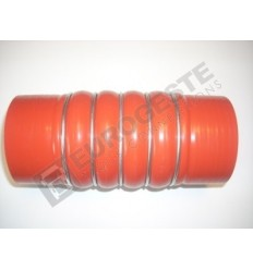 SILICONE BELLOWS HOSE TURBO MB Ø85x200 RED WITH 5 STEEL RINGS