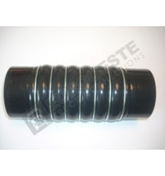 SILICONE BELLOWS HOSE TURBO RENAULT Ø90x255 BLACK WITH 7 STEEL RINGS