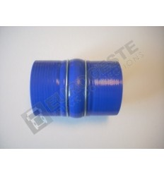 SILICONE BELLOWS HOSE TURBO SCANIA Ø90x140 BLUE WITH 2 STEEL RINGS