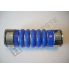 SILICONE BELLOWS HOSE TURBO VOLVO Ø66x245 BLUE WITH 6 STEEL RINGS