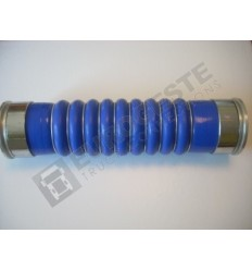 SILICONE BELLOWS HOSE TURBO VOLVO Ø80x390 BLUE WITH 10 STEEL RINGS
