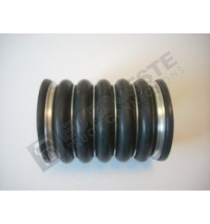 SILICONE BELLOWS HOSE TURBO VOLVO Ø100x148 BLACK WITH 6 STEEL RINGS
