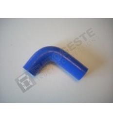 SILICONE ELBOW VOLVO Ø21x65-90 BLUE