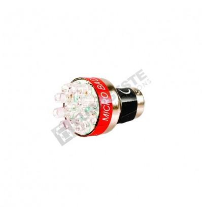 AMPOULE DE RECUL SONORE LED BLANC 12V BA15s