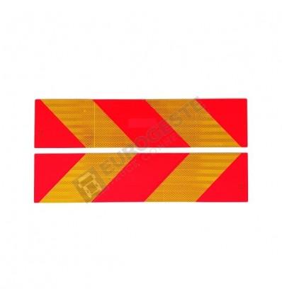 PLAQUE REFLECHISSANTE (140x565) par paire - CE - Camion nvlle norme