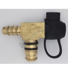TEE-CONNECTOR WITH PIPE CONNECTION AND TEST POINT VOSS 232